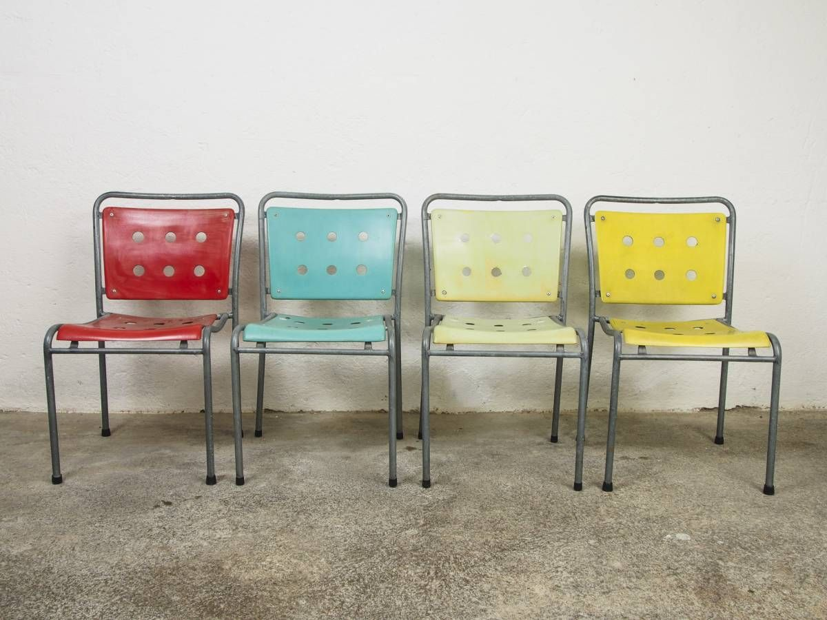 Stella-Gartenstühle, 15-Loch-Variante, 1950er Jahre | Schweizer ...