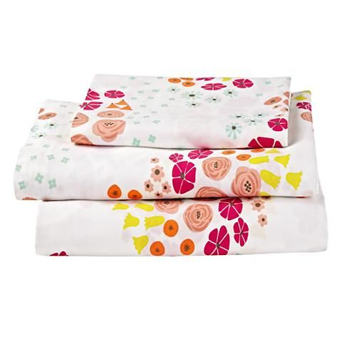 Flower Show Toddler Bedding | The Land of Nod