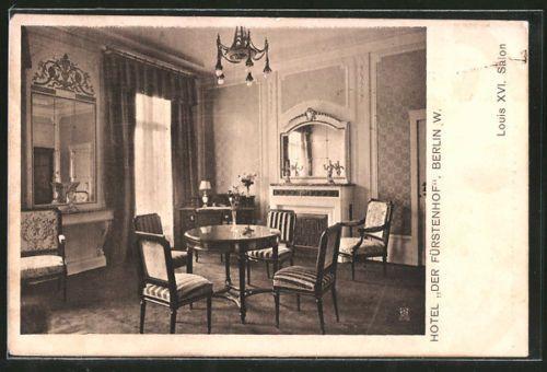 Ak Berlin alte ak berlin tiergarten hotel der fuerstenhof louis xvi salon 1908