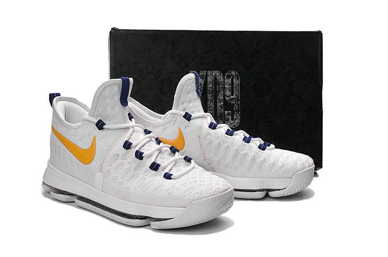wholesale dealer 5ab05 2abce Factory Authentic KD 9 ID Elite Flyknit Warriors Home Gold Medal