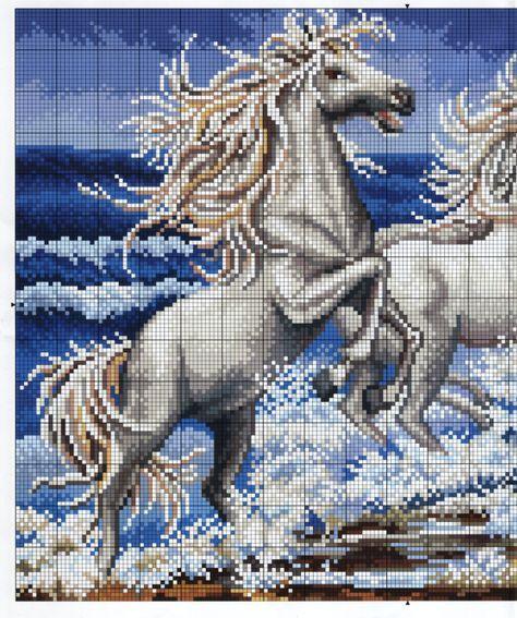 Gallery.ru / Фото #21 - Волки, лошади - radost68   Bordado ...