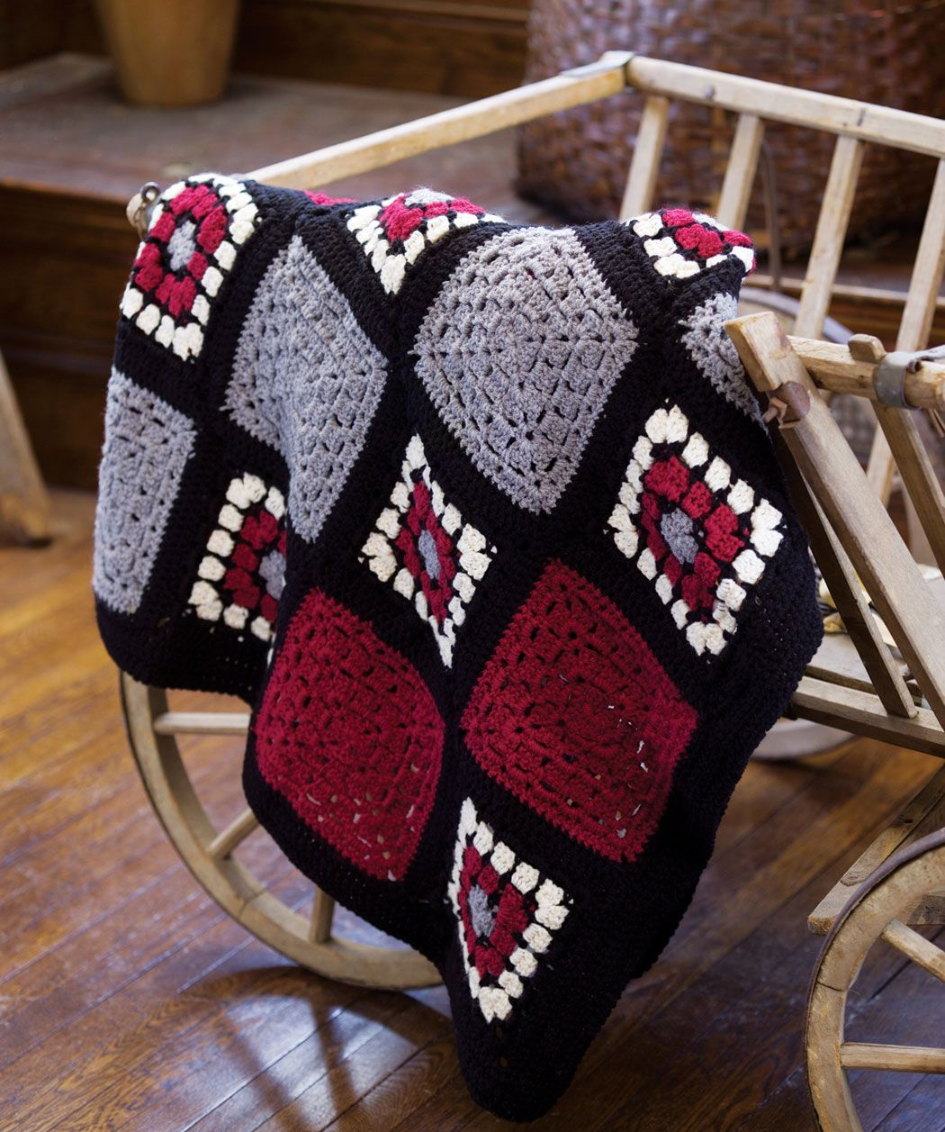 Great Afghans & Throws | Red Heart | Crochet | Pinterest | Manta y ...