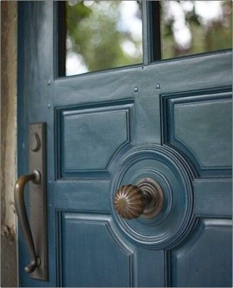 Rich blue. Entry door at The French Laundry | Colors blues, smokey ...