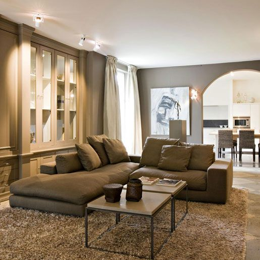 canapé taupe, couleurs des murs? | Villas, Luxury and Interiors