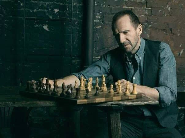 Ralph is playing chess alone. Should I ask him to play with me? :) | Ralph  fiennes, Matthews, Hot british men