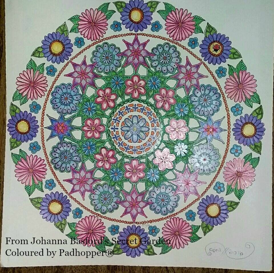 An Amazing Mandala Designed By Johanna Basford For The Secret Garden Coloring Book Coloured