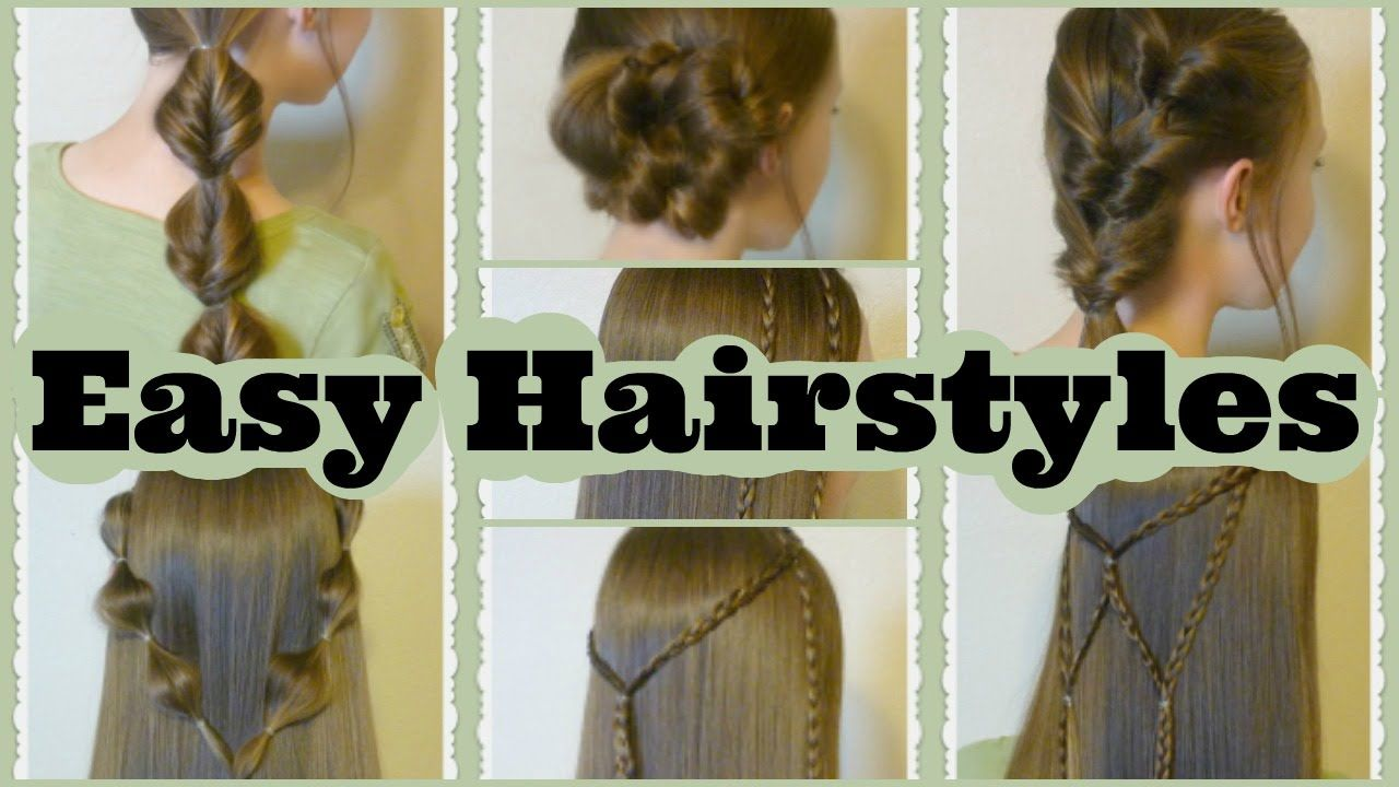 quick and easy hairstyles part hair dous pinterest easy