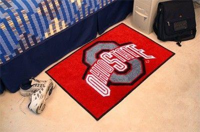 Ohio State Osu Buckeyes Starter Rug Carpet Welcome Door Mat Rugs On Carpet Door Mat Rugs