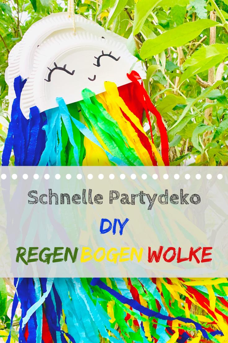 DIY: Regenbogenwolke für das Sommerfest – familiengedoens