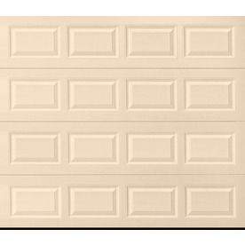 Pella Traditional Series 96 In X 84 In Insulated Almond Single Garage Door 123486 Single Garage Door White Garage Doors Garage Doors
