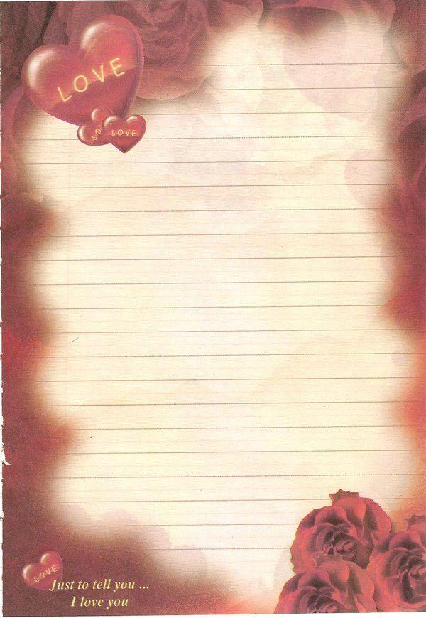 صور اوراق حب للكتابة عليها Love Letter Carta Dia Dos Namorados Papel De Carta Papeis De Escrita