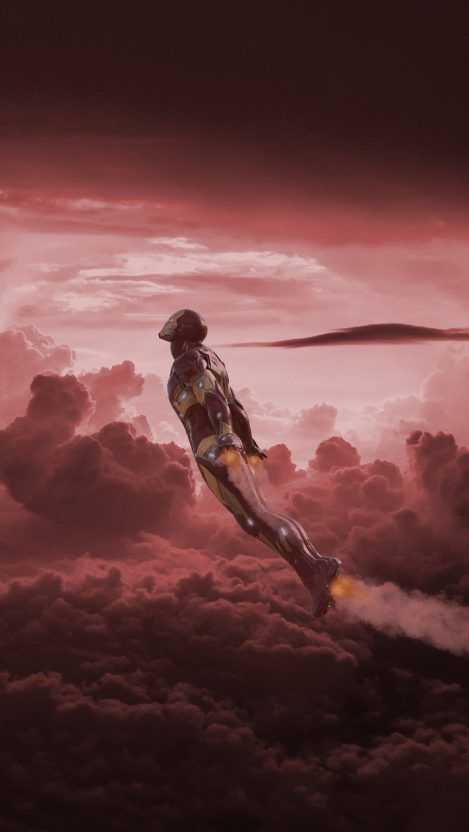 Iron Man Fly over Titan iPhone Wallpaper - iPhone Wallpapers