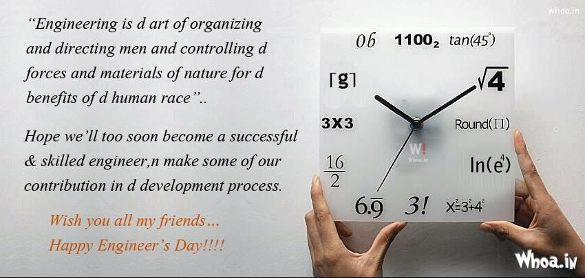 Engineering Day Quotes Images With World Clock Engineering Day Quotes Engineers Day Quotes Engineers Day