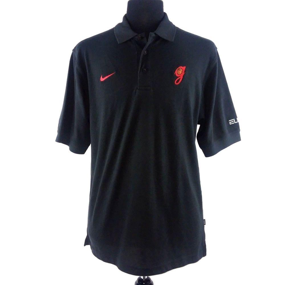 UGA Georgia Bulldogs Nike Elite Polo Shirt Black MEDIUM