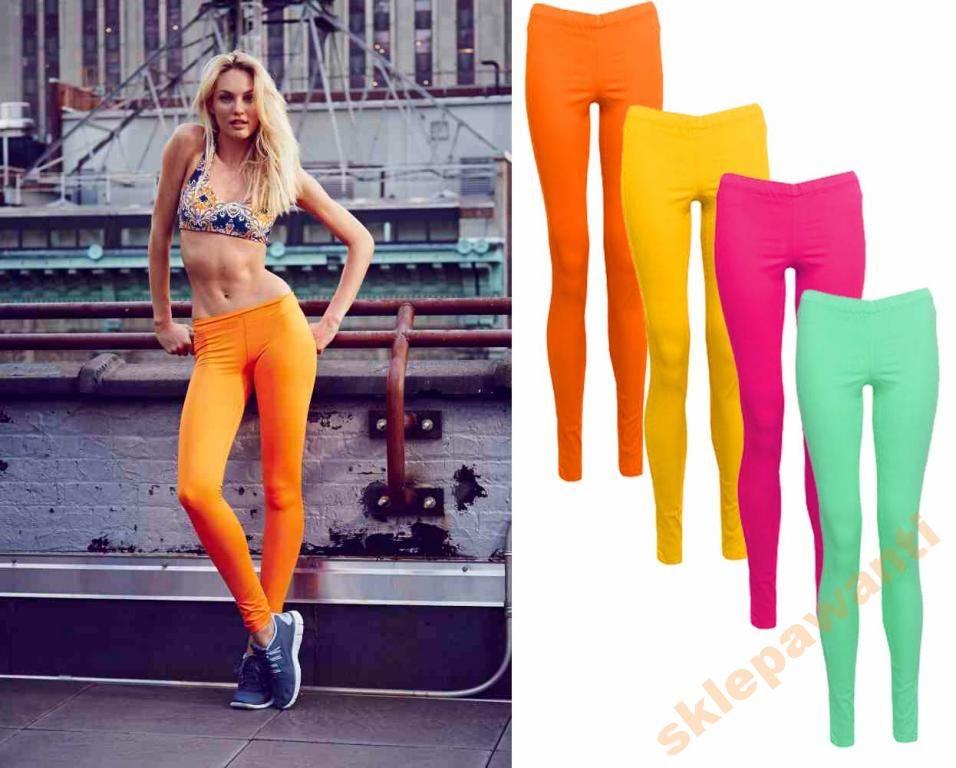 Poczuj Wiosne Energetyczne Kolory Legginsy Hot 5021763613 Oficjalne Archiwum Allegro Fashion Legging Pants
