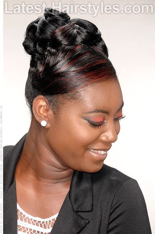 Black Updo Hairstyles With Twists And Humps Google Search