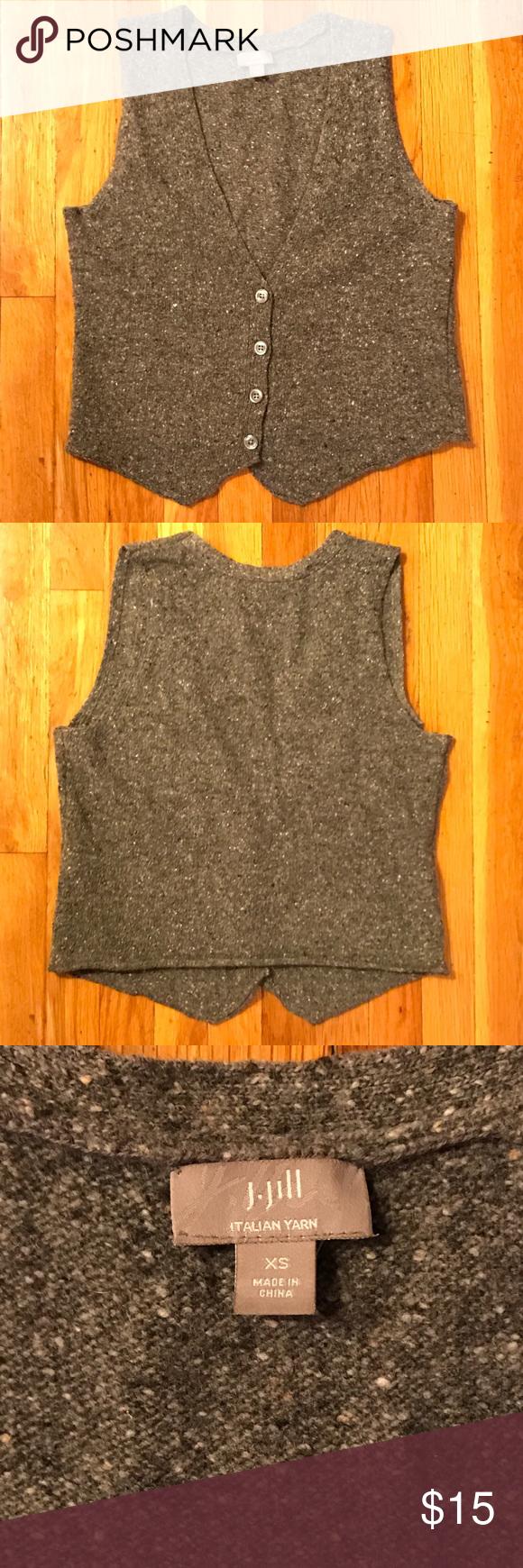 J. Jill Womens Button Up Knit Sweater Vest Size XS J. Jill Women's ...