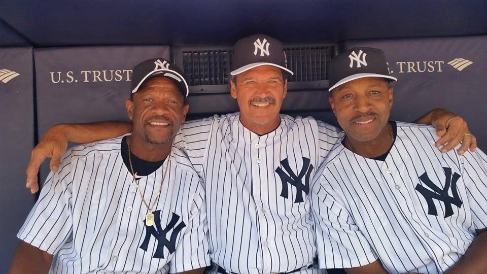 Rickey Hendersen, Ron Guidry, and Willie Randolph. NY