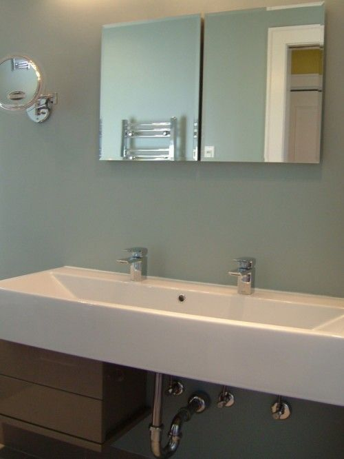 peinture Salle de bain Pinterest Trough sink, Contemporary