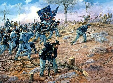 Union assault on Missionary Ridge.