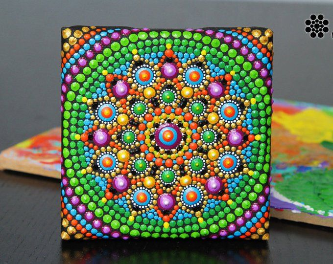 Mandala Dot Art Fridge Magnet Home Boho Decor Mandala Wall Etsy Mandala Dots Dots Art Mandala Wall Art