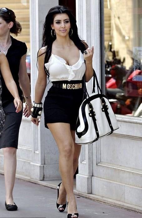 f91d3997ccb Kim Kardashian wearing Christian Louboutin Very Prive Pumps in Pony ...