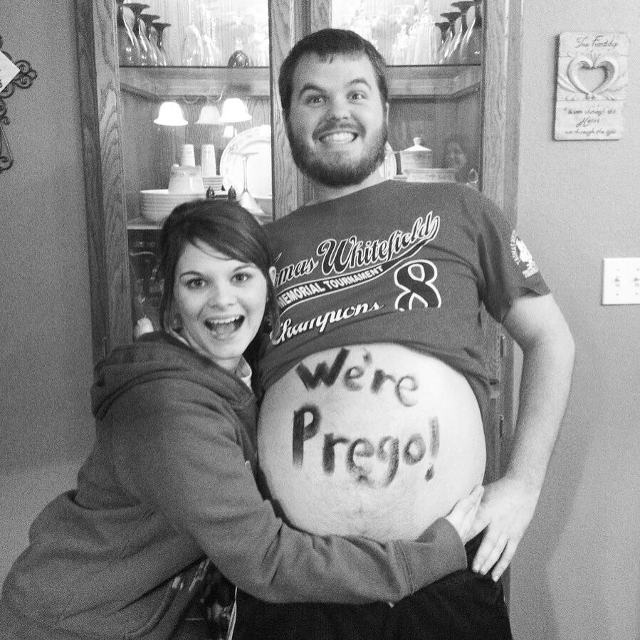 Funny pregnancy announcement for fat dads Baba – Witty Baby Announcements