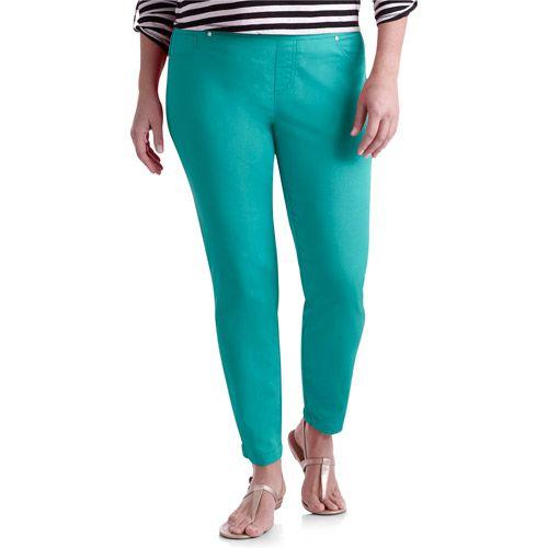 Women's Plus-Size Colored Denim Jeggings - Jeggings For Women At Walmart Women's Plus-Size Colored