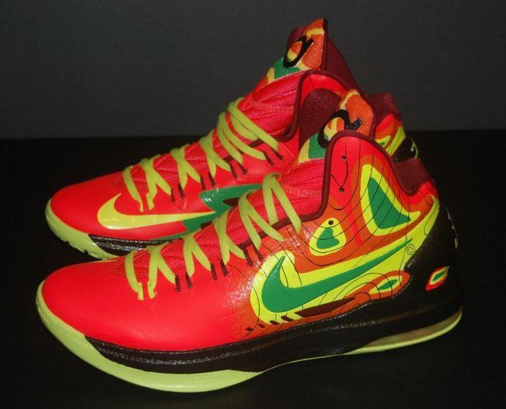 "Nike KD V ""Weatherman on Fire"" Customs  9213f117e7"