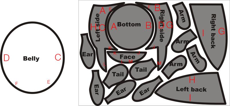 Totoro Plush Pattern by deviantpasta on deviantART ...