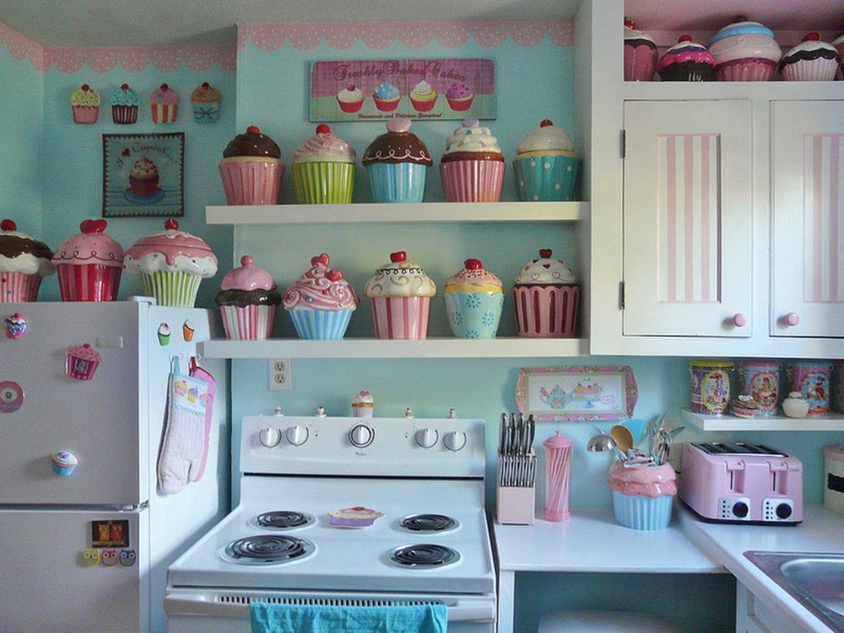 60 Cupcakes Themed For Kitchen Decoration Cupcake Kitchen Decor Kitchen Decor Kitchen Themes