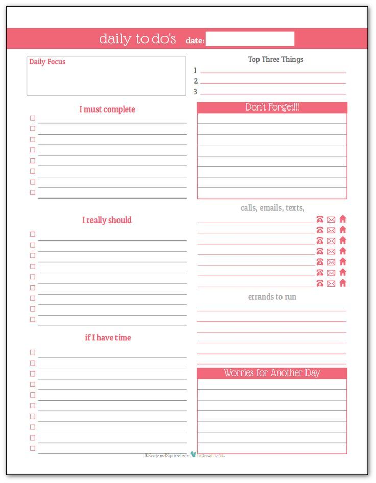 Stay on Track in 2016 With These Daily To-Do List Planner Printables