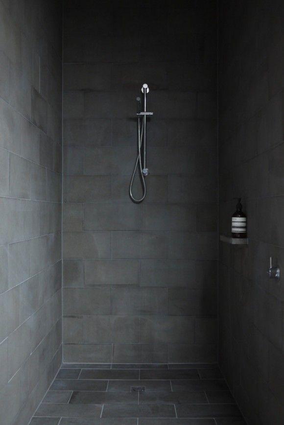 Black Slate Bathroom Wall Tiles Ideas