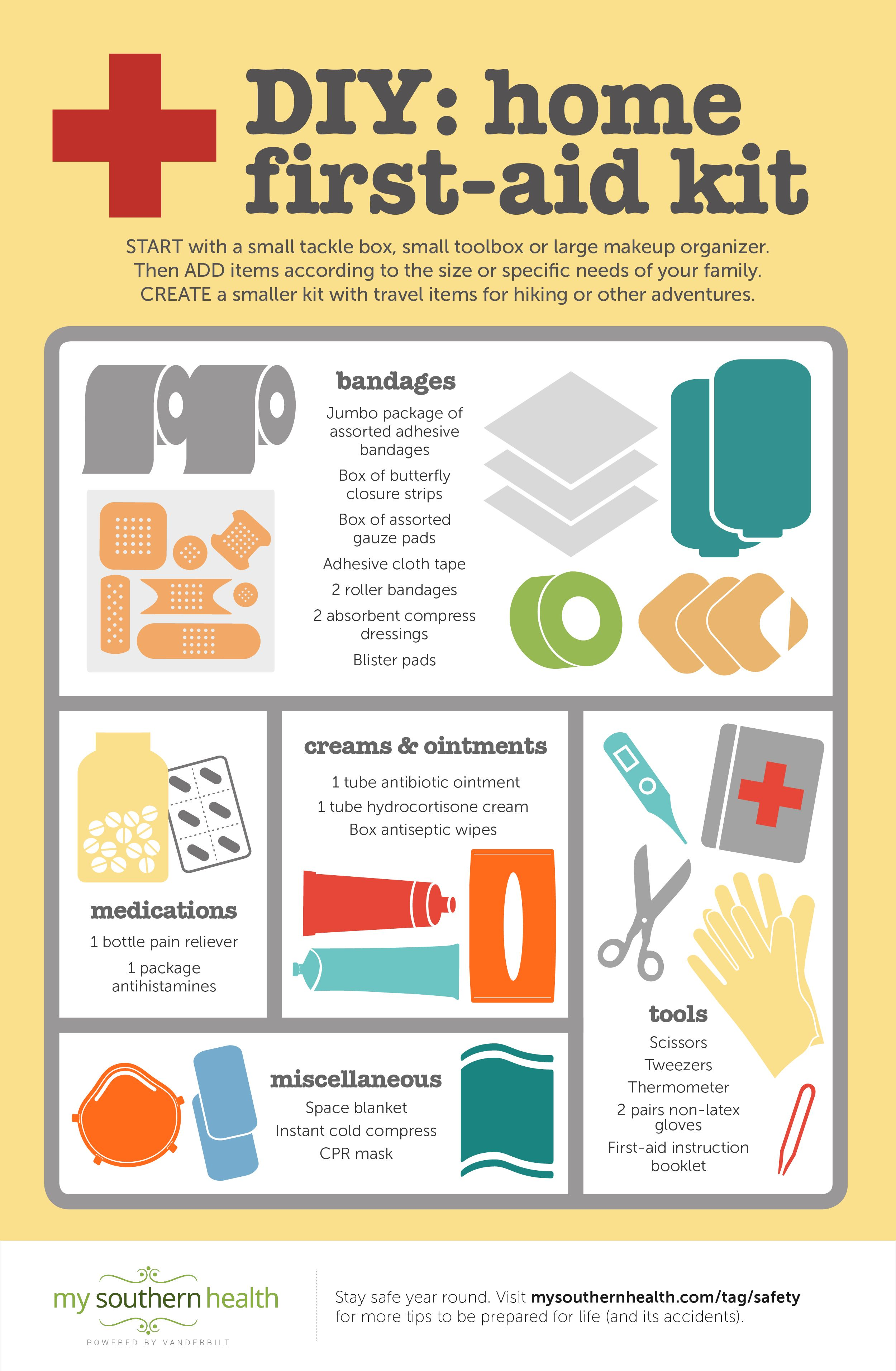 How To Make A First Aid Kit At Home With Infographic