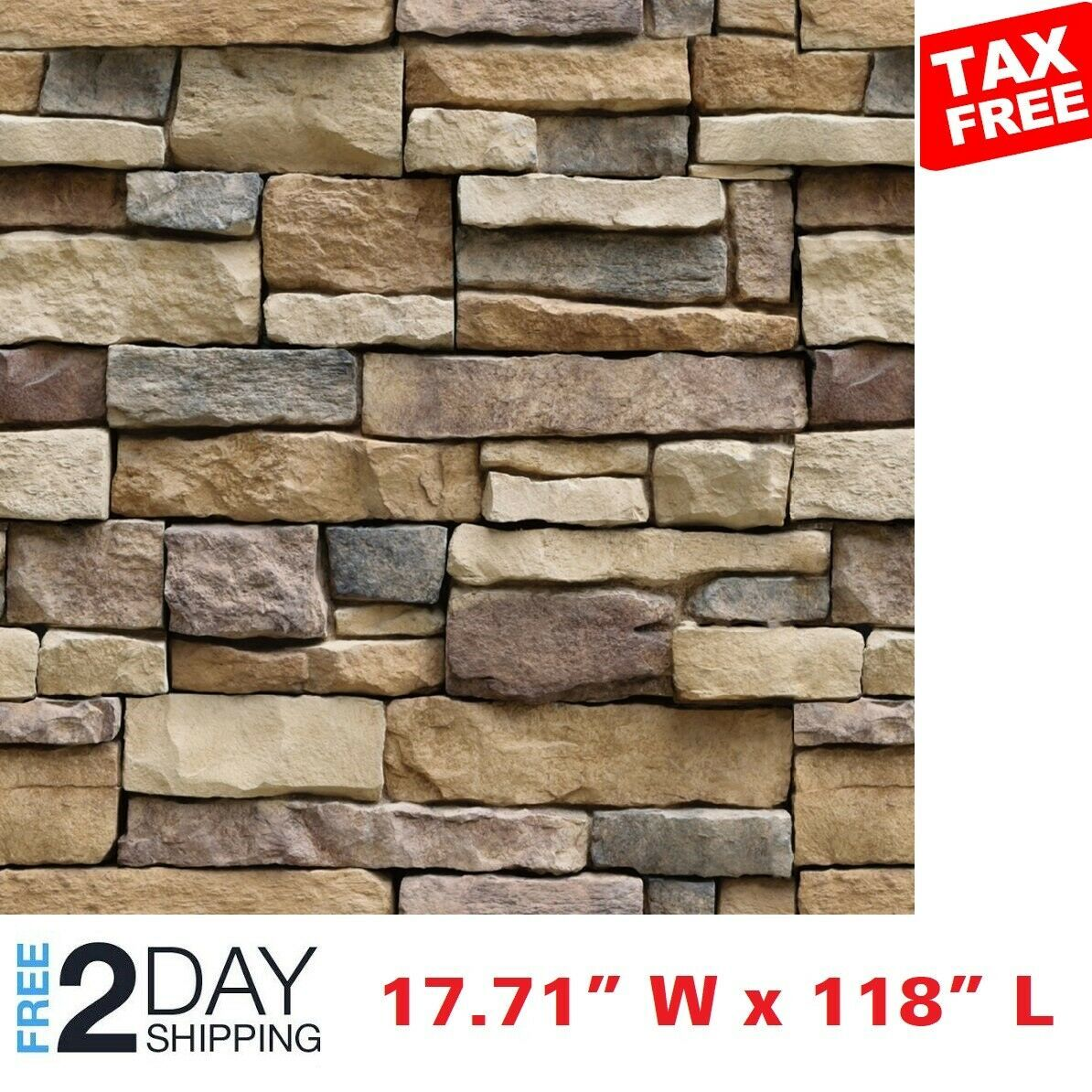 Brick Wallpaper Peel & Stick Easy Realistic Wall Self