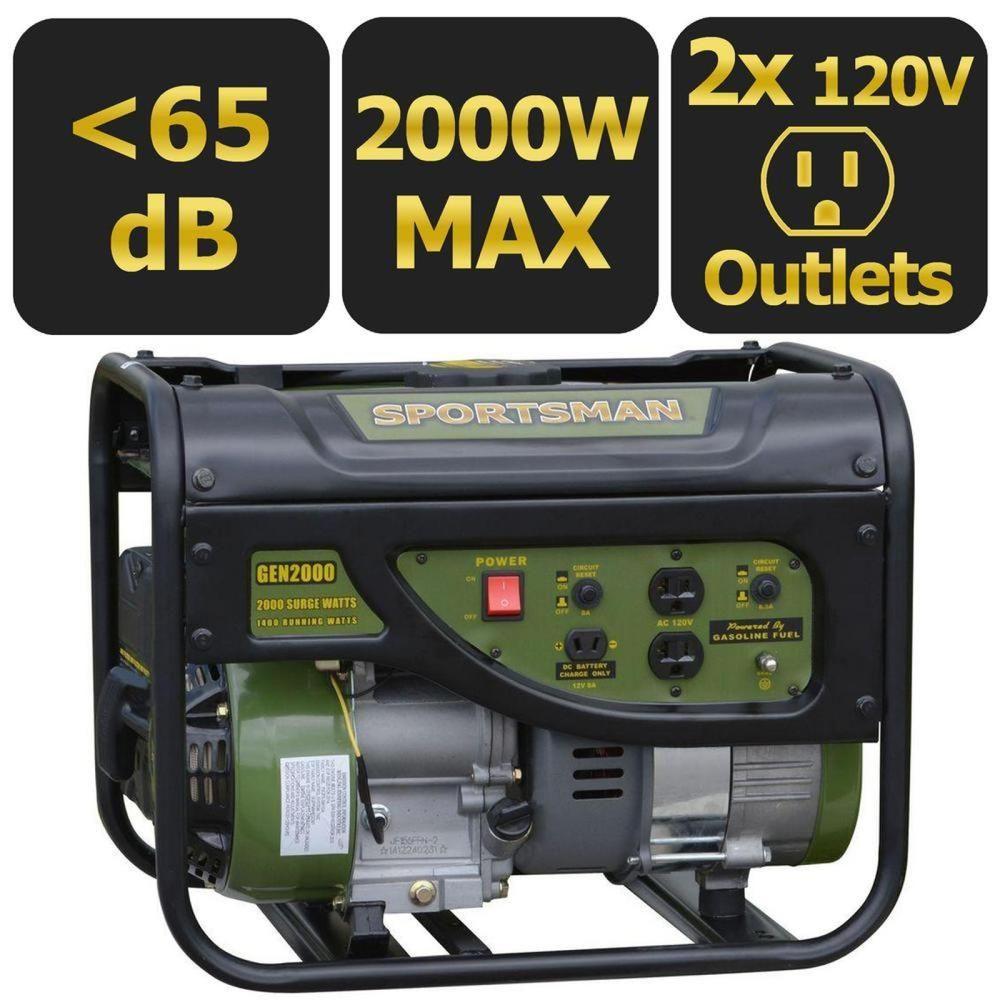 Sportsman Gasoline 2000W Portable Generator Sportsman