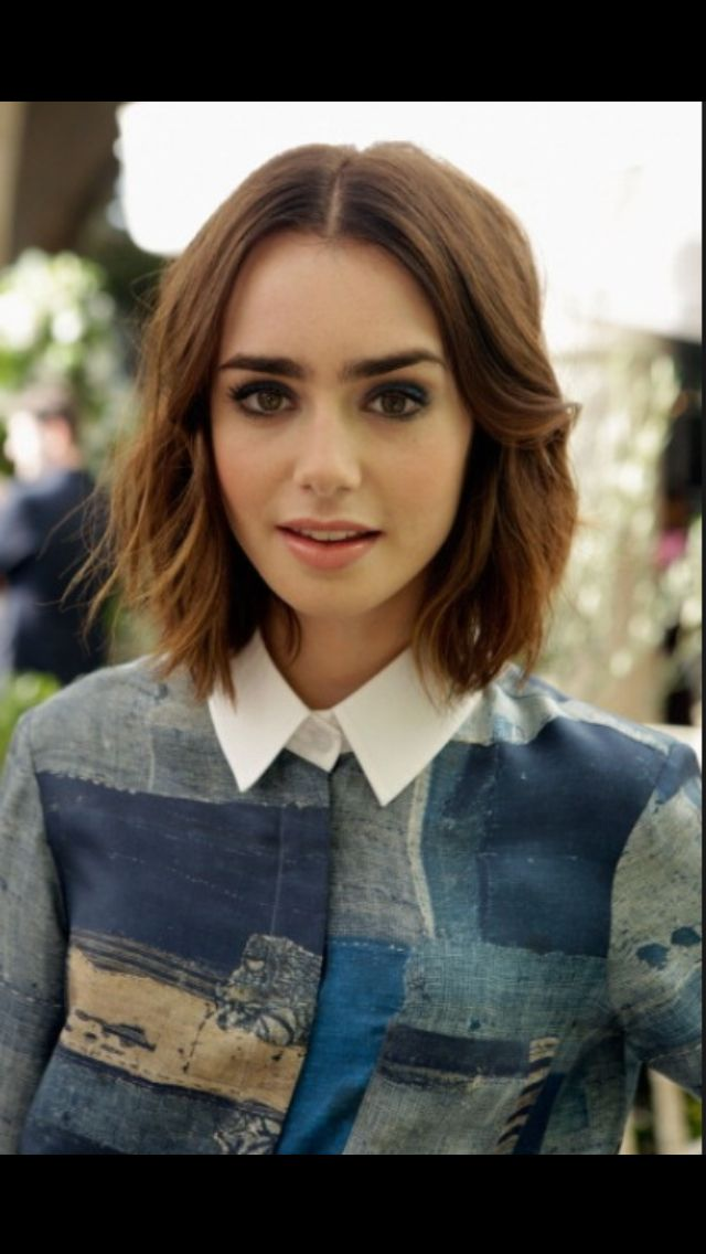 Lily Collins Short Hair I Really Love This Cut I Want To Get My