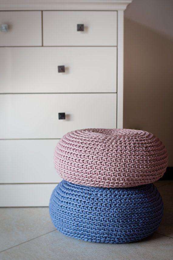 Taille mini pouf/polyester coussin de pouf/sol crochet hypoalergic ...