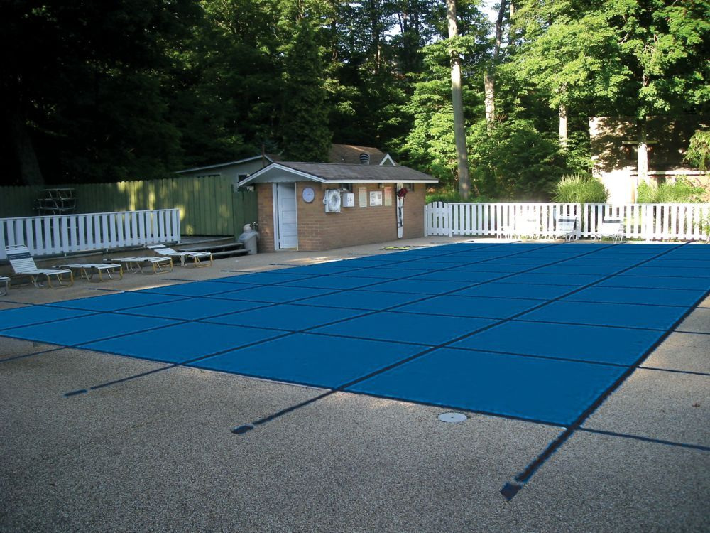 15 ft x 30 ft blue mesh pool safety cover pool cover