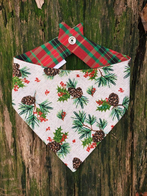 Flannel Christmas Plaid Snap Bandana