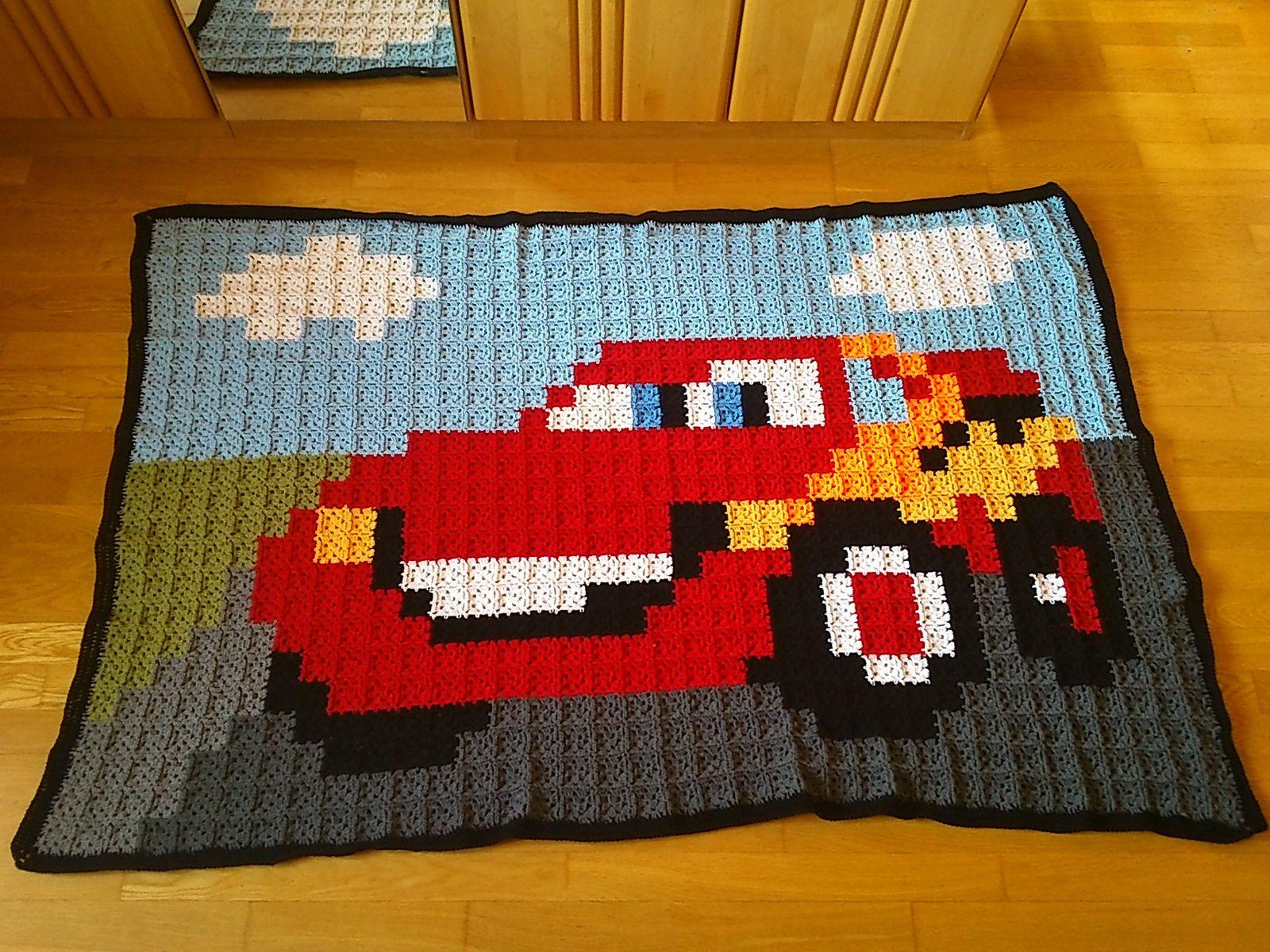 Ravelry Herlinde70 S 21 Blanket Cars Mcqueen Pixel Crochet Crochet Square Blanket Crochet Disney