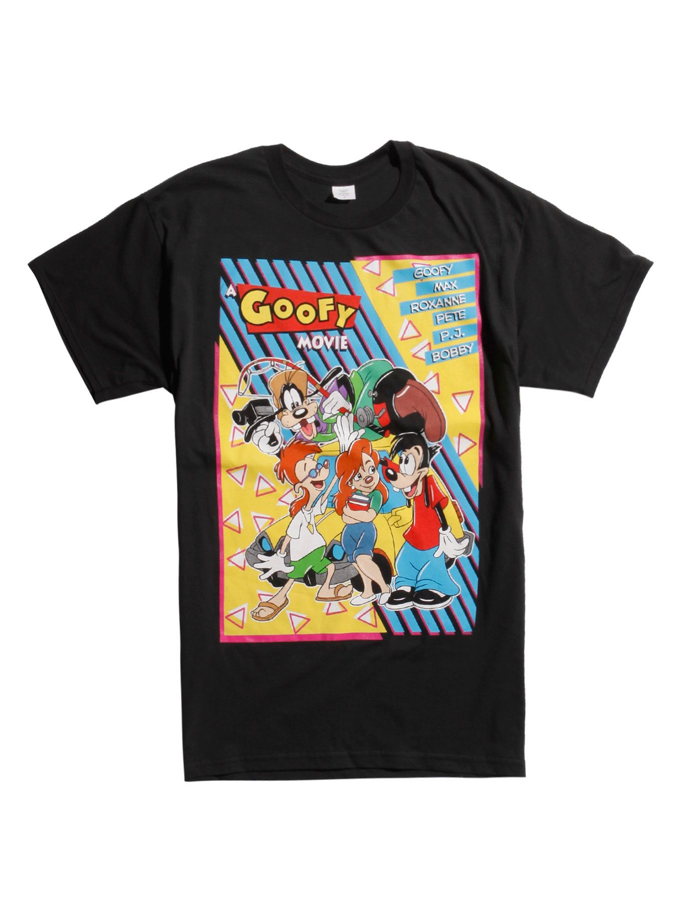 46396a18a Perfect the Perfect Cast and dance to your favorite Powerline jams in this  movie poster T-shirt from <i>A Goofy Movie</i>. See Eye 2 Eye with a  colorful ...