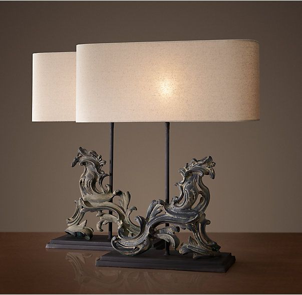 French Rococo Gate Artifact Table Lamp - Right | Lamps ...