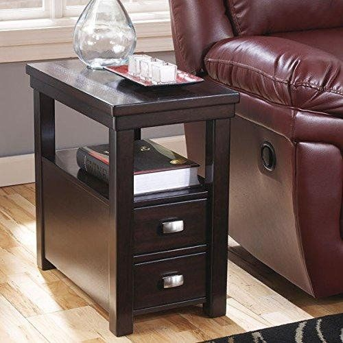 Contemporary Narrow Nightstand Wooden Espresso Wenge Chair