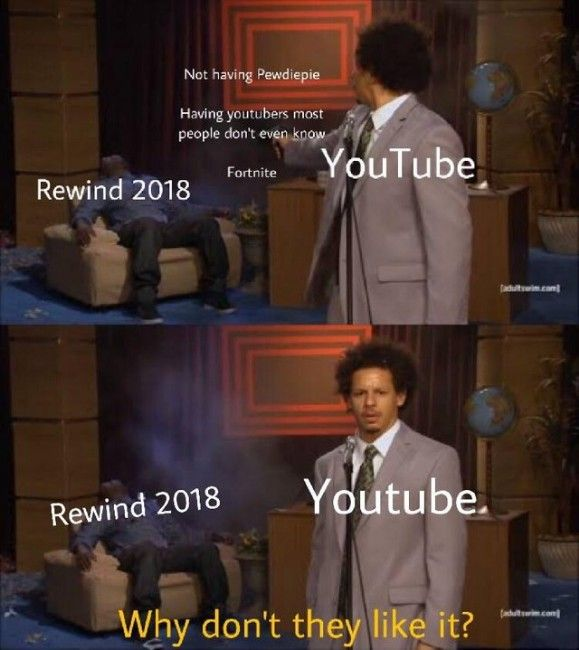Youtube Rewind 2018 Meme Youtube Rewind Memes That Are Funny Youtube Rewind Ironic Memes Star Wars Humor