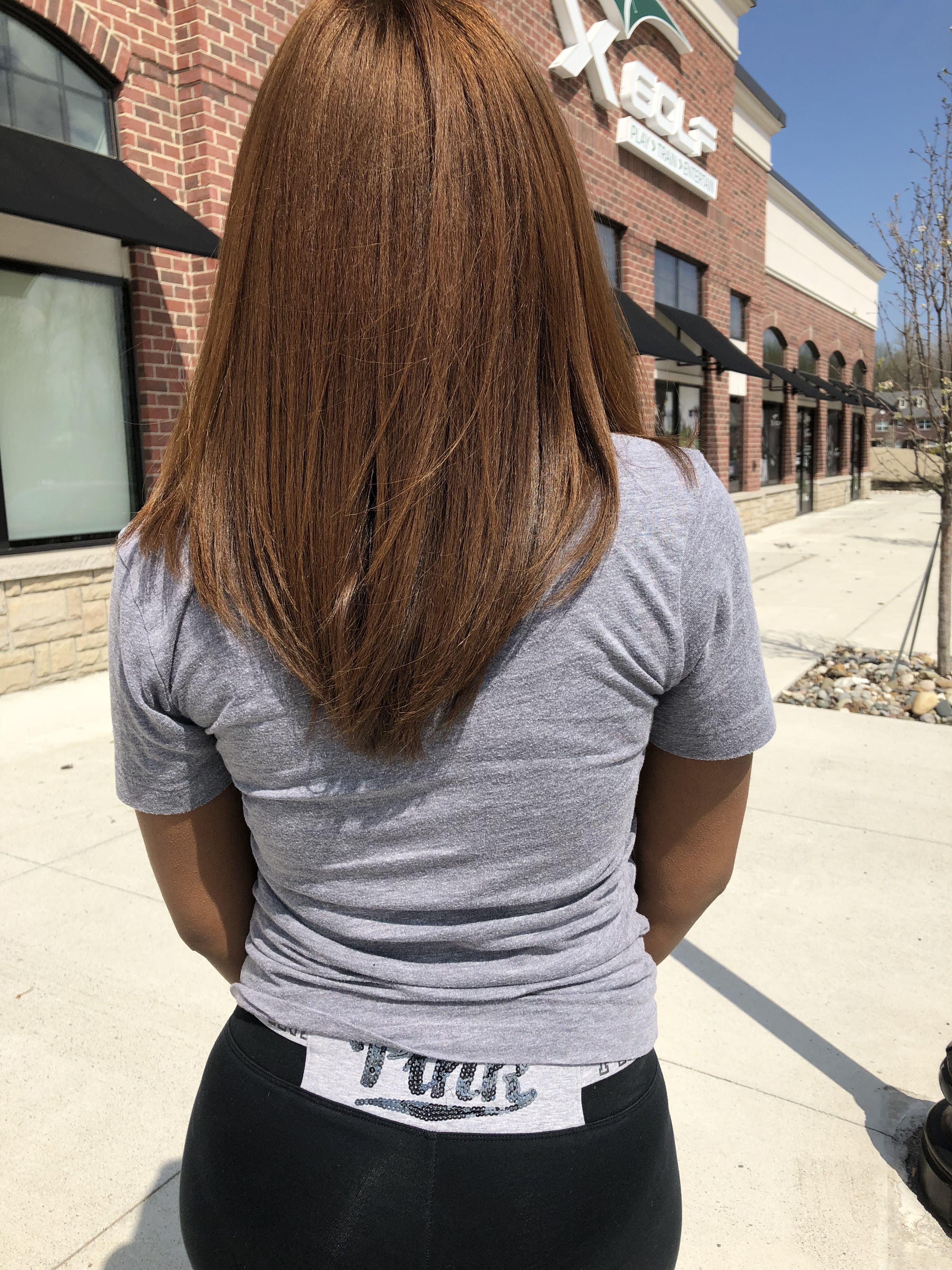 Light Brown Straight Natural Hair Black Girl With Images Hair