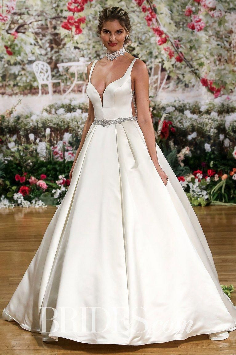 5de7f45f81a Maggie Sottero Pleated Satin Wedding Dress Spring 2018