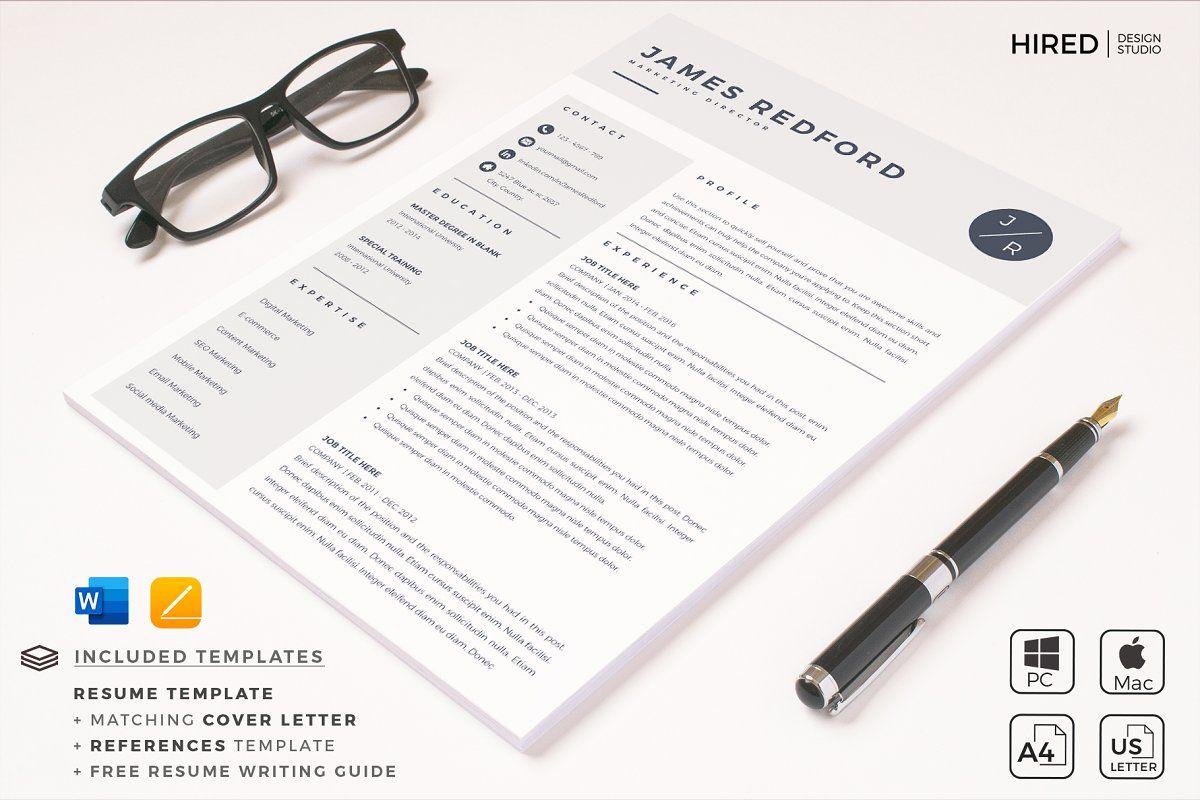 Marketing Resume Cv With Logo Icon Nursing Resume Template Resume Template Cv Template Professional