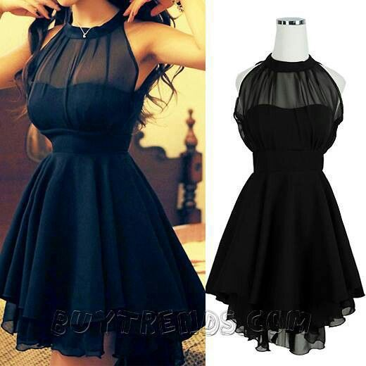 A perfect little black dress.