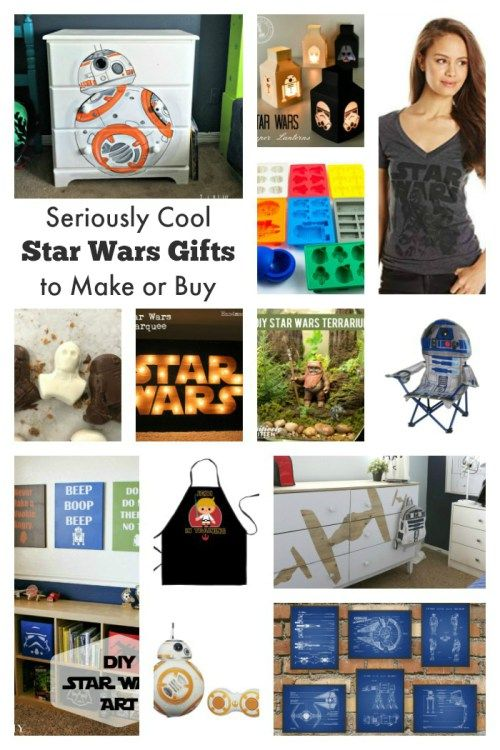 Cool Star Wars Gifts To Make Or Buy Star Wars Diy Star Wars Gifts Star Wars Crafts